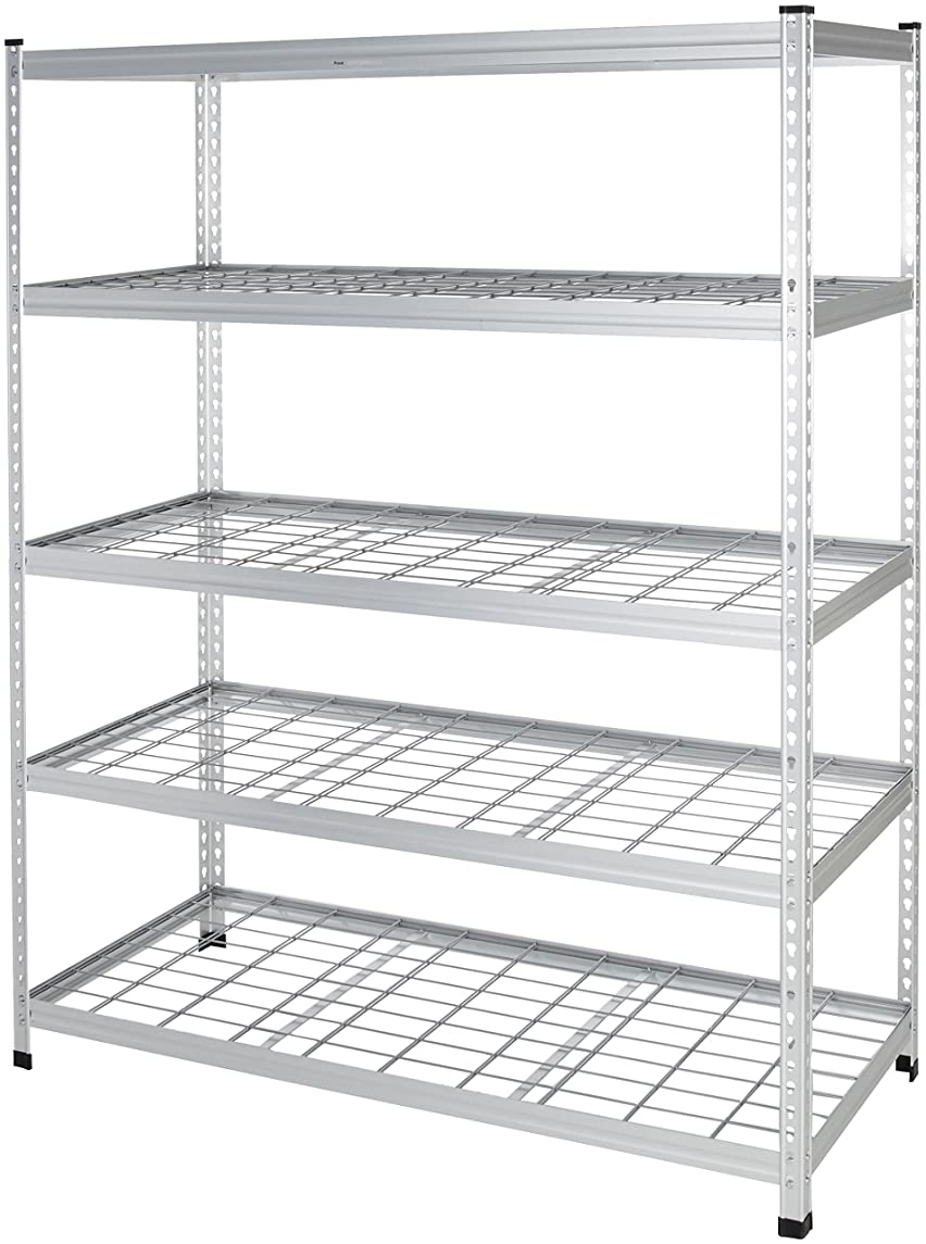 AmazonBasics Heavy Duty Shelving Single Post Steel Wire Shelf, 60 x 24 x 78, Aluminum