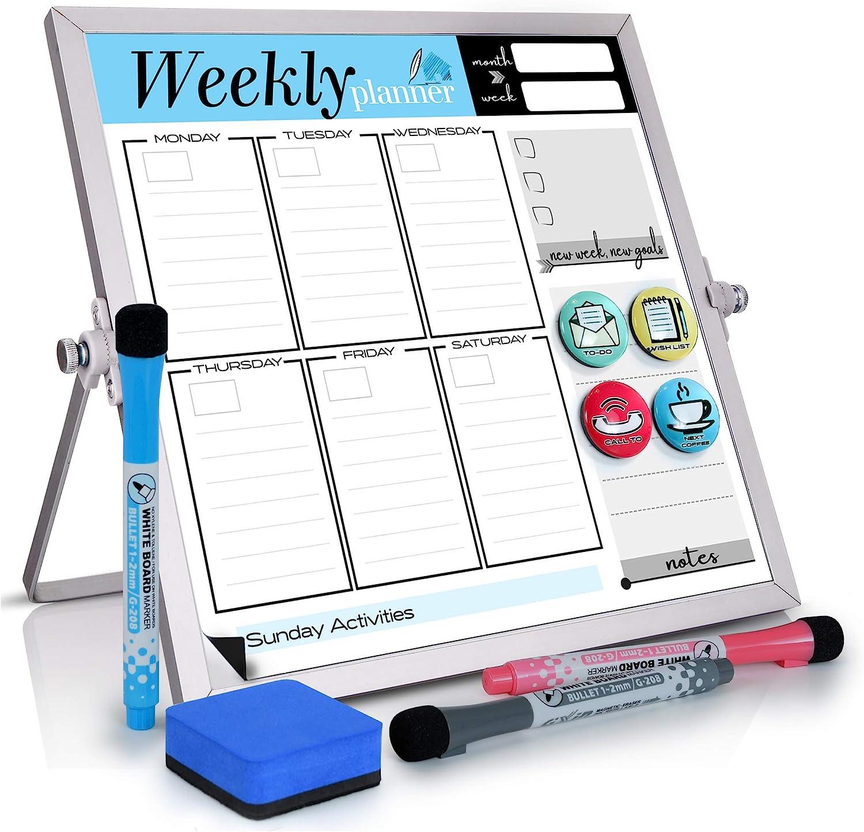 Small Desktop Calendar White Board -10
