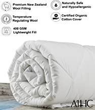 A1 Home Collections Wool Duvet Insert, Twin, 400 GSM(ALL SEASON)