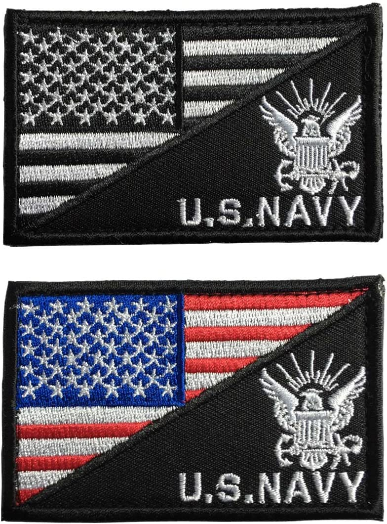 SpaceAuto USA Flag US Mail order cheap Navy Army Hook Bombing free shipping Tactical Badge L Morale