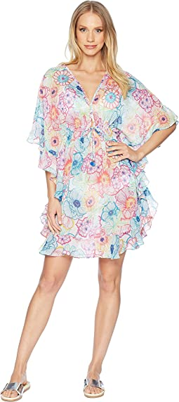 Bleu Rod Beattie Caftan w/ Ruffle Cover-Up