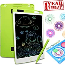LCD Writing Tablet Drawing Board - 8.5 Inch Colorful Screen Electronic Writing Doodle Pad Children Preschool Learning Educational Handwriting Pad for Note Memo Boy Girl Toy Gift (8.5inch, Green)