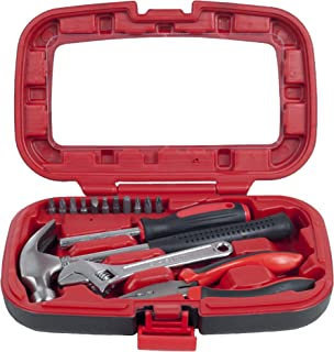 Household Hand Tools, Tool Set - 15 Piece by Stalwart, Set Includes – Hammer, Wrench, Screwdriver, Pliers (Tool Kit for th...