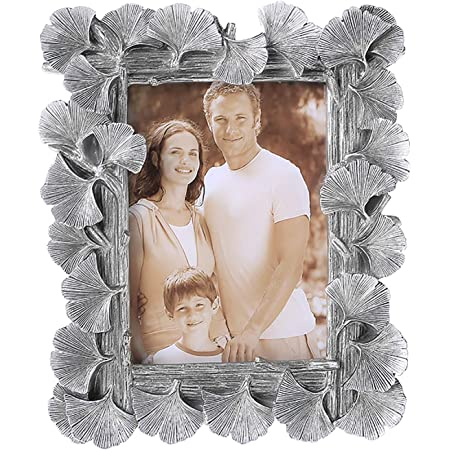 Pewter Tone Butterfly Frame with Glass for 3x3 Picture