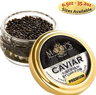 Marky's Siberian Sturgeon Royal Caviar – 1 oz Premium Sturgeon Malossol Black Roe – GUARANTEED OVERNIGHT