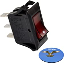HQRP Illuminated Rocker Switch for Automotive Applications, Marine Applications, Coffee Machines 125V 15A + HQRP Coaster