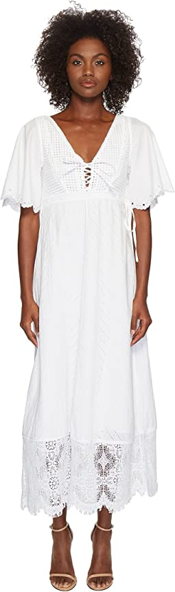 McQ - Broderie Anglaise Long Dress