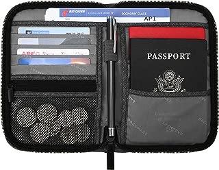 BAGSMART Travel RFID Blocking Wallet Passport Holder Cover Credit Card Organizer for Men and Women, Black