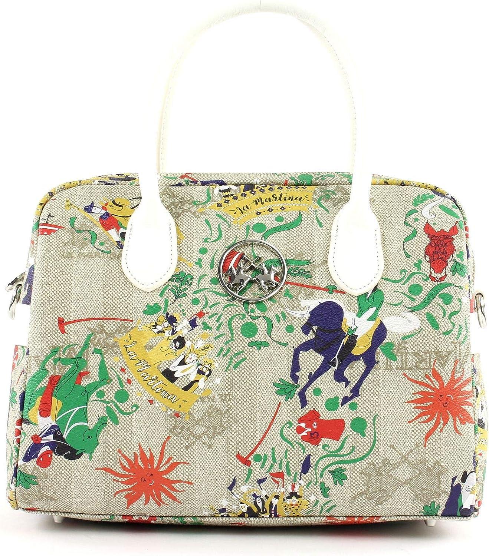 La Martina Mariana Handtasche Handtasche Handtasche natur weiß B07Q1DBW9J 3c9451