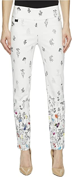 Spring Gradient Print Ankle Pants