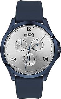 Hugo Boss Men'S Silver Dial Blue Silicone Watch - 1530037