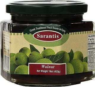whole green walnut jam