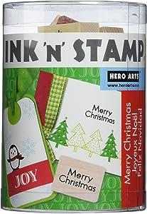 Hero Arts LP1699-LL795 Ink and Stamp Set, Holiday