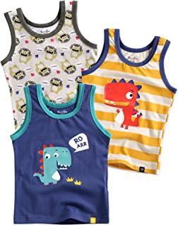 2T-7T Kids Boys 100% Cotton Undershirts Tank Tops (Pack of 3) or Boxer