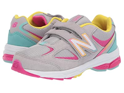 New Balance Kids PO888v2 (Little Kid) (Grey/Rainbow) Girls Shoes