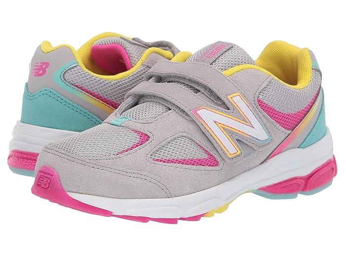 New Balance Kids PO888v2 (Little Kid) (Grey/Rainbow) Girls Shoes