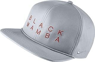 Nike Men's Black Mamba Aerobill Dri-FIT Zipback Hat (Wolf Grey, OneSizeFitsAll)