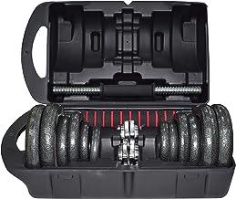 SkyLand EM-9229-20 Unisex Adult Cast Iron Adjustable Dumbbell Set With Connector - Black, 44.50 L x 25 W x 14.50 cm H