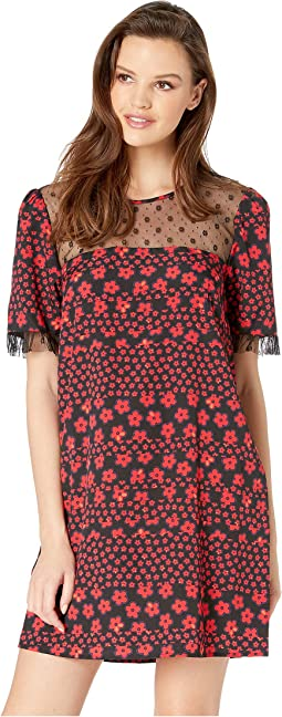 Day Lace Trim Woven Dress