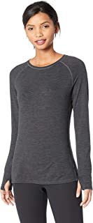 Amazon Essentials Women's Brushed Tech Stretch Long-Sleeve Crew