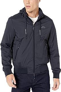 Armani Exchange Men's Zip Up Blouson Jacket with Small Logo