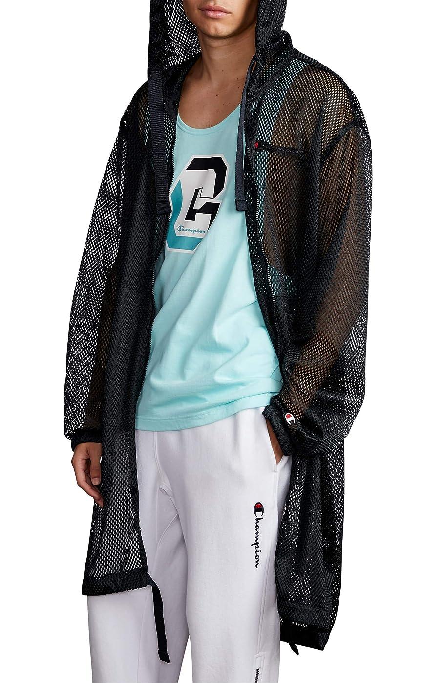 不健康温室教育学[チャンピオン] メンズ ジャケット?ブルゾン Champion Hooded Mesh Trench Coat [並行輸入品]