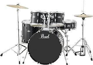 Pearl RS525SCC31 Roadshow 5-Piece Drum Set, Jet Black