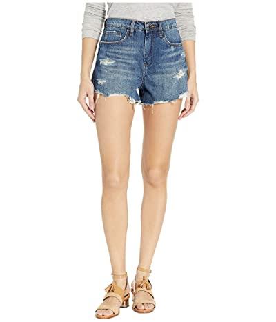 Blank NYC The Barrow High-Rise Distressed Shorts in After Shock (After Shock) Women