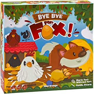 Blue Orange Games Bye Bye Mr.Fox- Cooperative Children's Game for 1 to 4 Players. Recommended for Ages 5 and up
