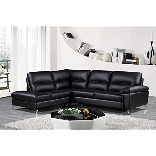 Wondrous Genuine Leather Sectional Amazon Com Home Interior And Landscaping Ologienasavecom