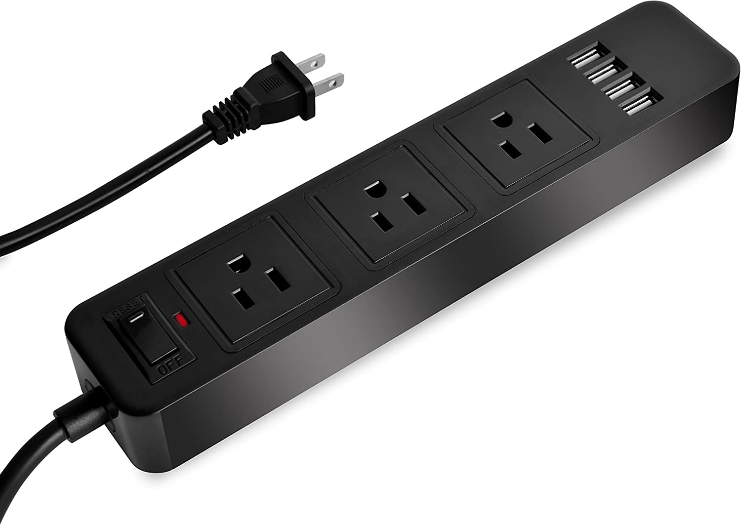 Power Strip Surge Protector 2 Prong Max 68% OFF with and 4 USB Outlets Large discharge sale Cha 3