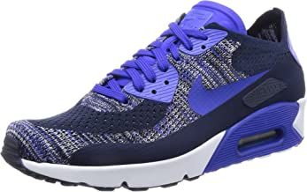 Nike Men's Air Max 90 Ultra 2.0 Flyknit, College Navy/Paramount Blue, 9 M US