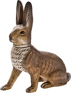German paper-mache Easter rabbit candy container, sitting, brown
