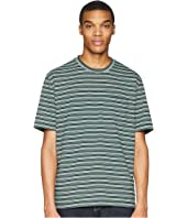 Vince - Multi Stripe Short Sleeve Pocket Crew