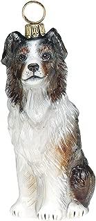 Joy to The World Collectibles European Blown Glass Pet Ornament, Australian Shepherd