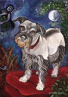 Toland Home Garden Chagrowl Schnauzer 28 x 40 Inch Decorative Puppy Dog Portrait House Flag