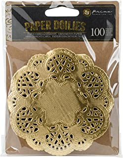 Paper Doilies 100/pk Round Gold