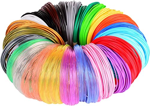 3D Pen/3D Printer Filament,1.75mm PLA Filament Pack of 24 Different Colors,High-Precision Diameter Filament, Each Col...