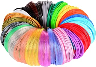 3D Pen/3D Printer Filament,1.75mm PLA Filament Pack of 24 Different Colors,High-Precision Diameter Filament, Each Color 10...