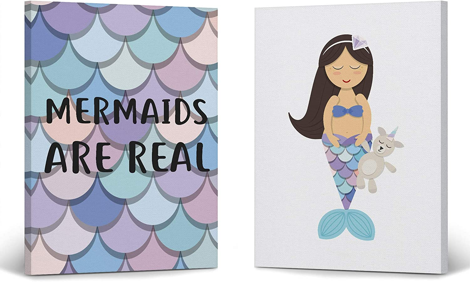 Smile Art Design Mermaids are Over item handling ☆ Real 2 Mermaid Decor Quote New color C Panel
