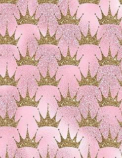 Sketchbook: Pink Glitter Crown   Blank Paper for Drawing, Doodling, or Sketching (Sketchbooks for Kids)