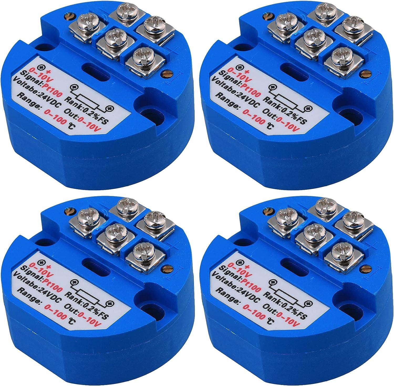 CNBTR 4 x PT100 0-10V Temperature 0 DIY San Antonio Mall Max 84% OFF Transmitter Parts DC24V