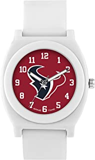 Game Time Women's 'Fan' Quartz Plastic and Rubber Casual Watch, Color:White (Model: NFL-FNW-HOU)