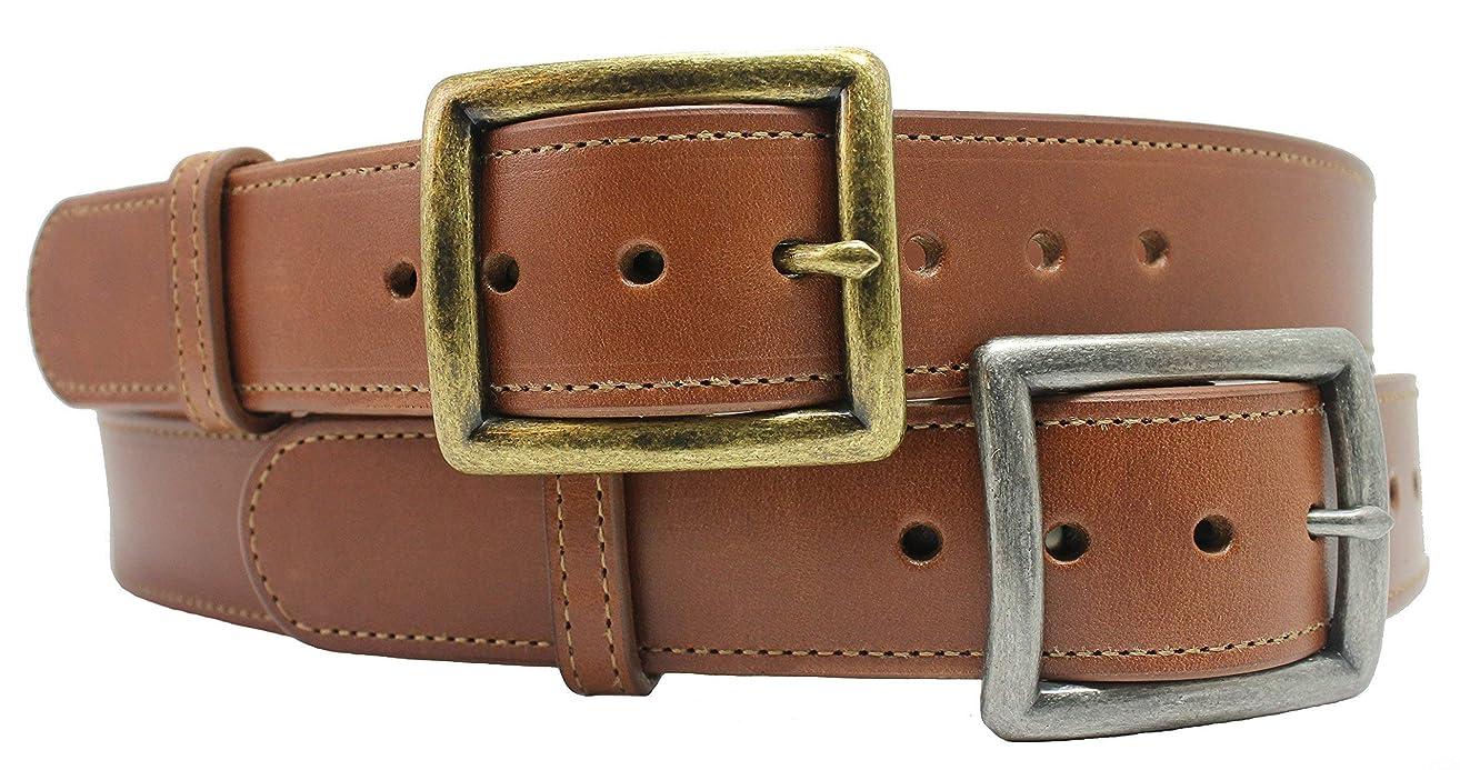 Handmade Heavy Duty Russet Leather Belt 1-1/2