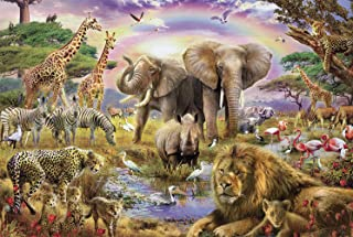 Agirlgle Wood Jigsaw Puzzles 1000 Pieces for Adults Kids-Wild Animals,Every Piece is Made of Basswood,Softclick Technology...
