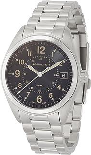 Hamilton Men's 'Khaki Field' Swiss Quartz Stainless Steel Casual Watch, Color:Silver-Toned (Model: H68551133