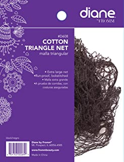 Diane Cotton Triangle Net, Black - 2 pack