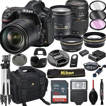 $3499 Get Nikon D850 DSLR Camera with 24-120mm VR + Tamron 70-300mm + 32GB Card, Tripod, Flash, and More (21pc Bundle)