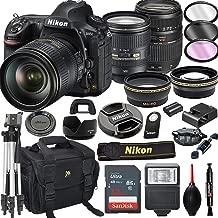 Nikon D850 DSLR Camera with 24-120mm VR + Tamron 70-300mm + 32GB Card, Tripod, Flash, and More (21pc Bundle)