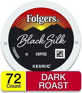 Folgers Black Silk Dark Roast Coffee, 72 K Cups for Keurig Makers, Packaging May Vary